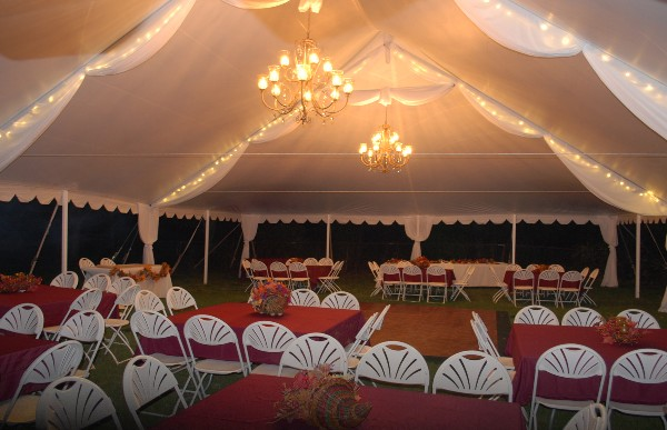 Party tent chandeliers aloadofball Choice Image